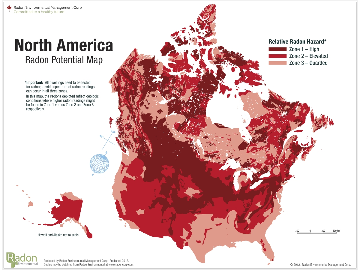 Radon Concentration Map Canada Why Should I Test for Radon in My Home?   Pillar To Post